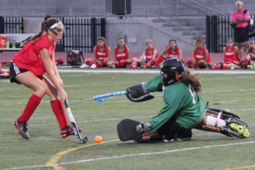 In addition to different uniforms and equipment, Del Norte senior Sammy Burke says a different technique is required for fulfilling the goalkeeping duties on the Nighthawks' field hockey, soccer and lacrosse teams.