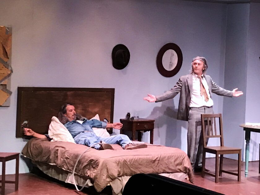 "Joe Powers (left) plays Cody and Ron Choularton plays Beaujo in ""Geography of a Horse Dreamer,"" part of a monthlong tribute to playwright Sam Shepard at the Tenth Avenue Arts Center in April."