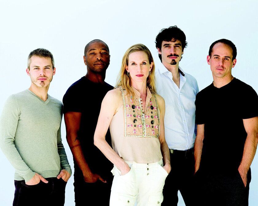Wendy Whelan (center) with Joshua Beamish, Kyle Abraham, Alejandro Cerrudo and Brian Brooks