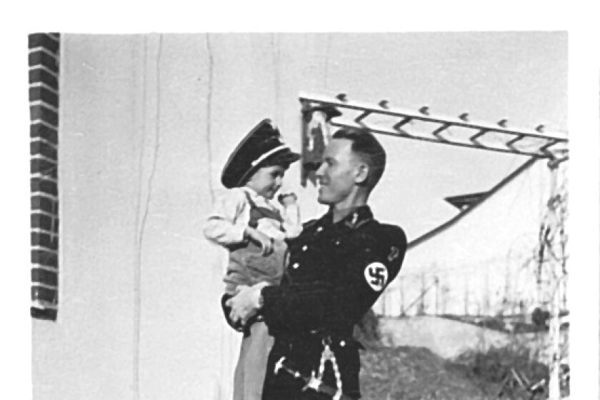 """Horst and Otto c. 1942 from Philippe Sands' """"THE RATLINE: The Exalted Life and Mysterious Death of a Nazi War Criminal on the Run."""" Horst von Wachter, whose prominent father Otto von Wachter disappeared after the war and was largely forgotten. Horst, now in his 80s, is a fascinating character, willing to explore his father's ugly history in great detail without letting go of the belief that he must have been a """"good"""" Nazi."""