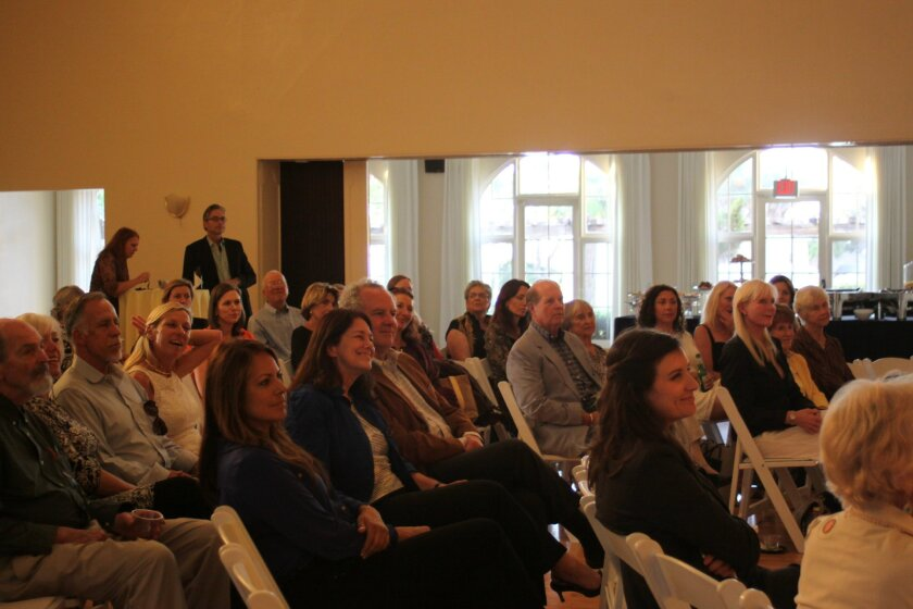 Guests attend the April 3 event to hear lightner's thoughts on her career.