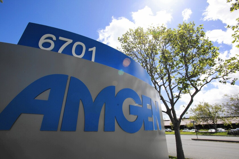 Amgen workers will help create antibody production lines in hamster cells for ZMapp, an experimental Ebola treatment whose supply ran out in August.