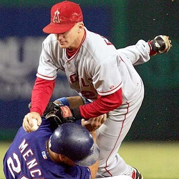 David Eckstein makes the out