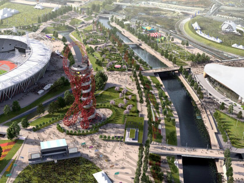 Work will continue on the Queen Elizabeth Olympic Park even after it opens to the public on July 29. This is an artist's rendering of what it's hoped the park will look like when it fully opens in spring 2014.