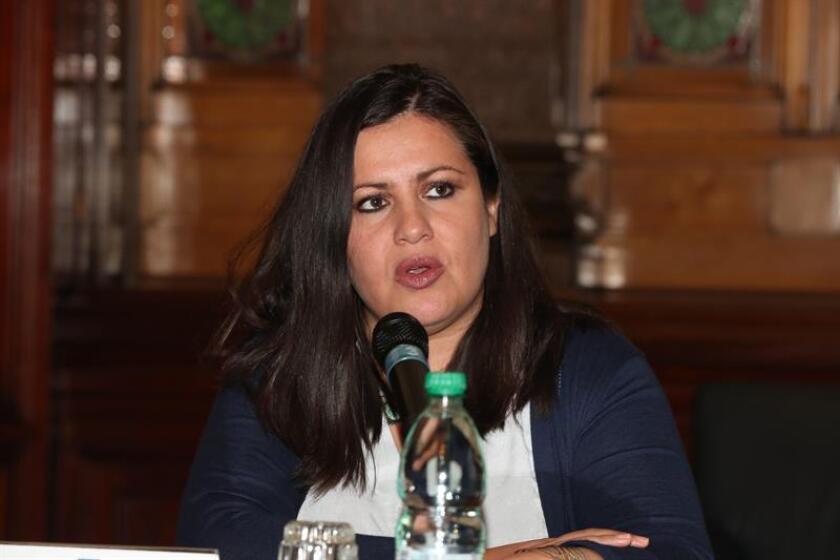 La directora para las Américas de Amnistía Internacional, Erika Guevara-Rosas, durante una conferencia de prensa. EFE/Archivo