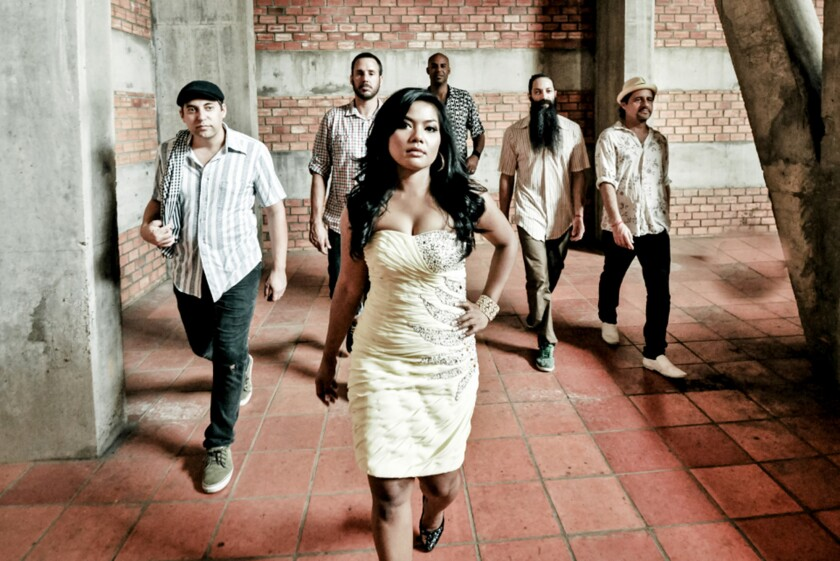 Dengue Fever will perform its unique mix of Cambodian pop music and modern sounds at the Eagle Rock Music Festival on Saturday.