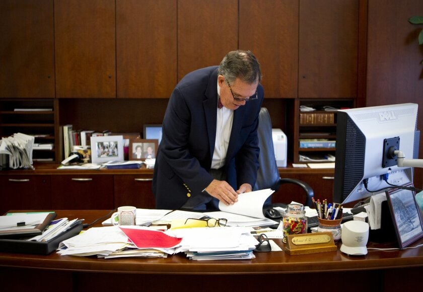Ernest Dronenburg Jr., the county assessor, in his office in July.