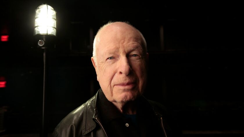 Legendary theater director Peter Brook, photographed in New York in 2014.