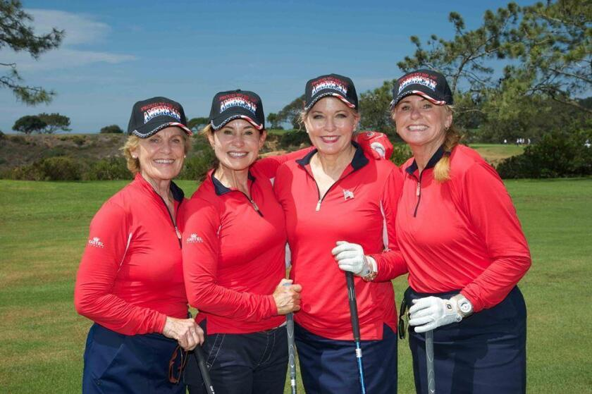 Pam Blakely, third from left, chairs the 2016 Scripps Clinic Invitational.
