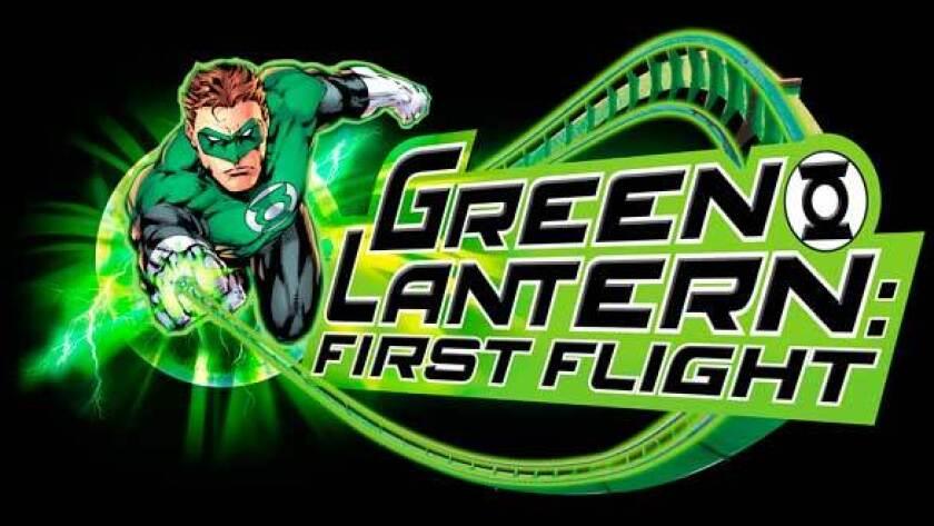 Green Lantern roller coaster at Six Flags Magic Mountain