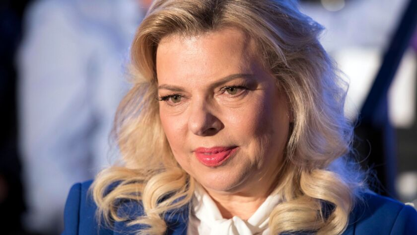 FILE - In this Sunday, May 21, 2017 file photo, Sara Netanyahu the wife of Israeli Prime Minister Be