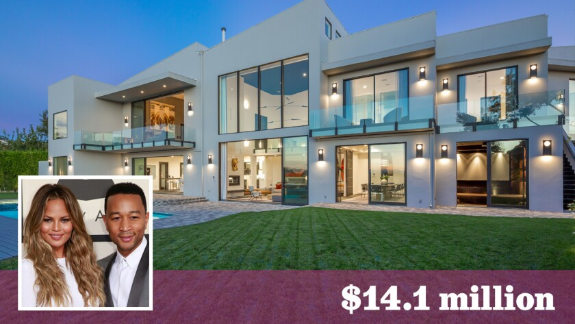 Chrissy Teigen and John Legend have bought a Beverly Hills home once owned by Rihanna for $14.1 million.
