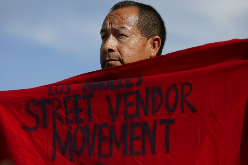 Irrael Trejo, 43, was among the dozens of people who participated in Thursday's march and rally for