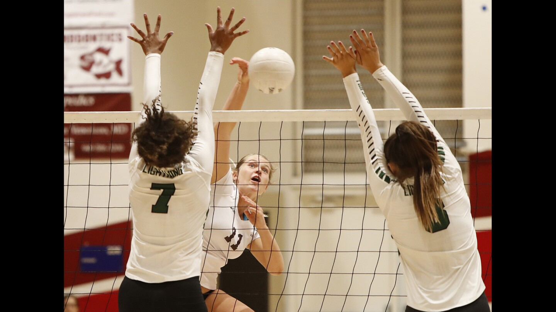 Photo Gallery: Laguna Beach vs. Sage Hill girls' volleyball
