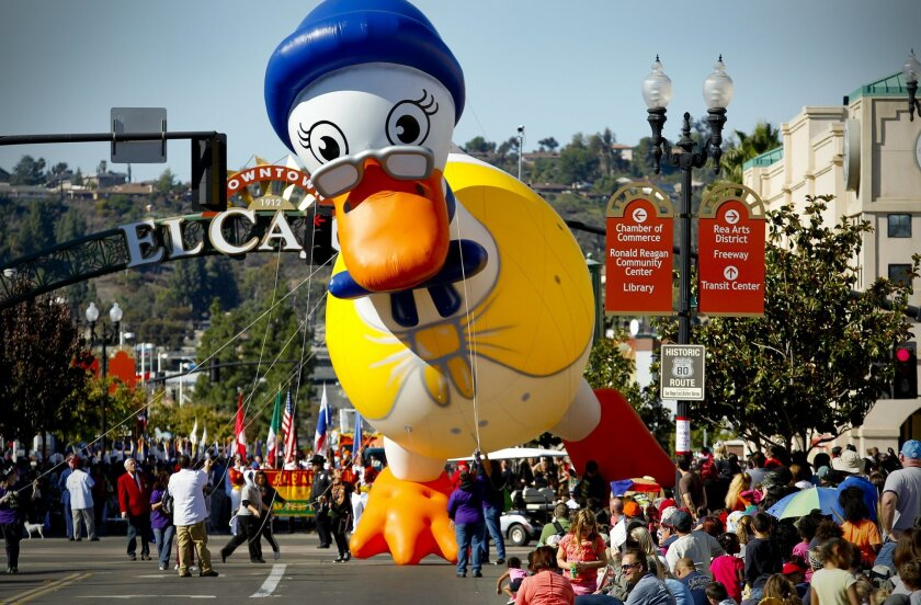 Thousands watch the Mother Goose Parade in El Cajon. The appeal of playful repetitions comes as early as Mother Goose rhymes.