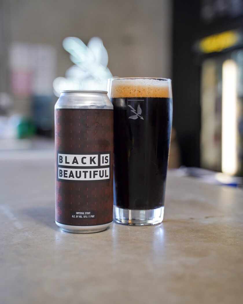 Saint Archer Brewing's Black is Beautiful beer