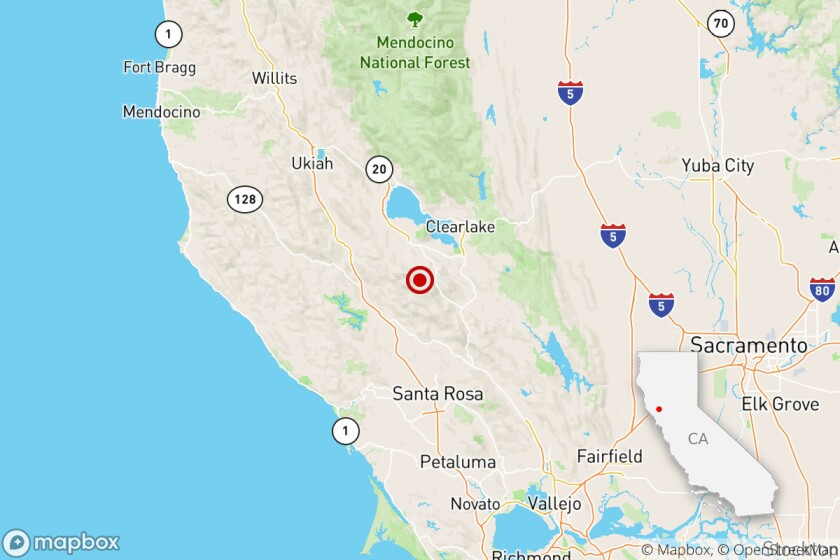 A magnitude 3.7 earthquake was reported Wednesday morning at 10:34 a.m. Pacific time 10 miles from Clearlake, Calif., according to the U.S. Geological Survey.
