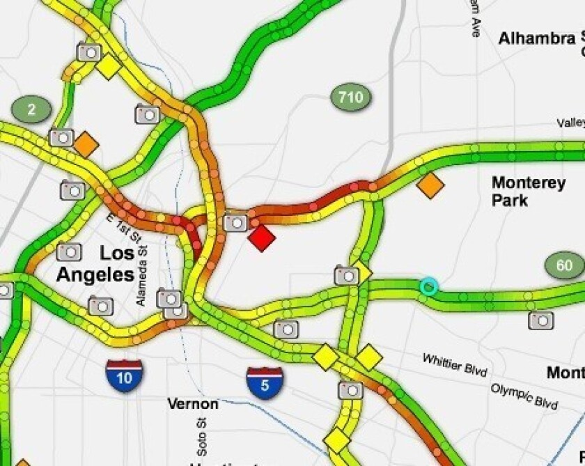 A fiery crash on the 10 Freeway briefly closed all eastbound lanes of the 10 Freeway.