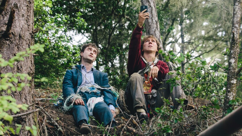 """Daniel Radcliffe, left, and Paul Dano in the movie """"Swiss Army Man."""""""