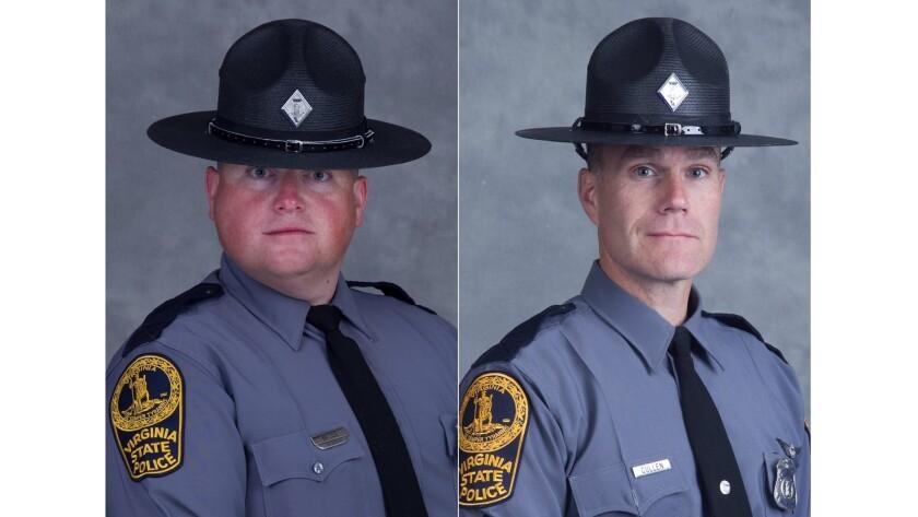Virginia State Trooper-Pilot Berke M.M. Bates, 40, of Quinton, Va., and Lt. H. Jay Cullen, 48, of Mi