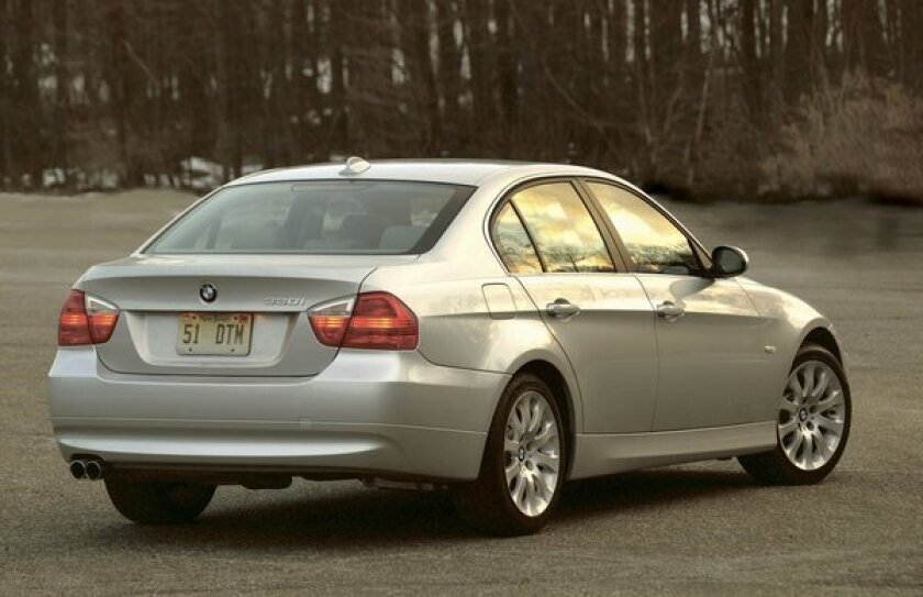 The BMW 330i, like the model shown here, is one of 76,565 vehicles that the automaker is voluntarily recalling to fix an issue with the front passenger airbag.