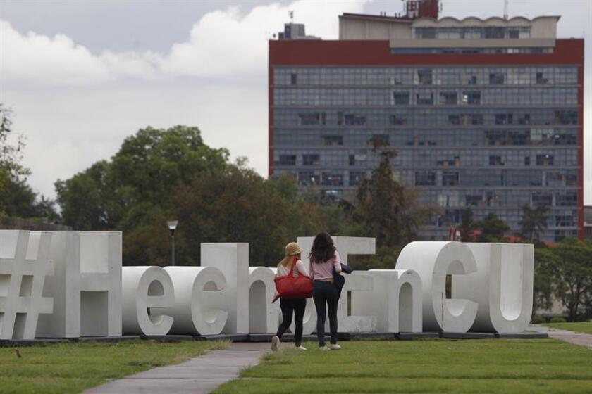 Fotografía que muestra una vista general de una explanada de la Universidad Nacional Autónoma de México (UNAM), en Ciudad de México (México). EFE/Archivo