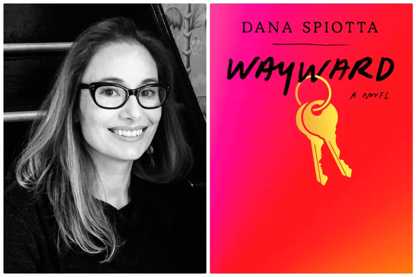 A portrait of Dana Spiotta and the cover of her book featuring two keys