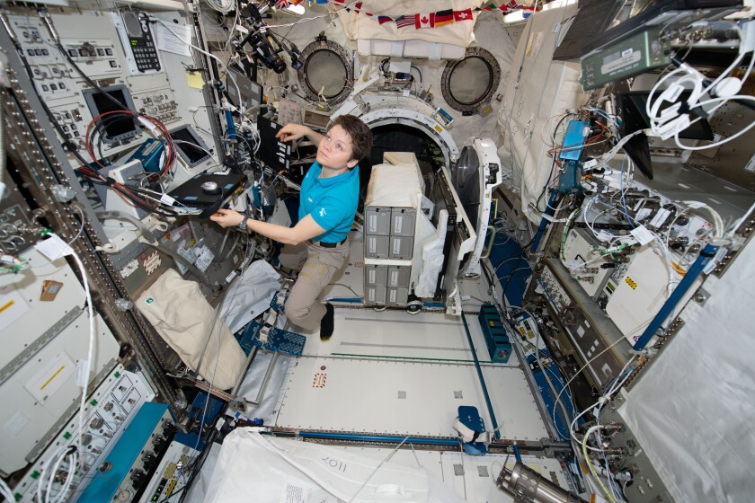 Anne McClain on the International Space Station