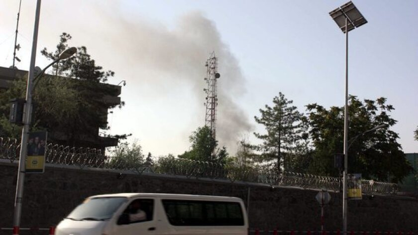 Taliban gunmen launch attack near Afghan presidential palace
