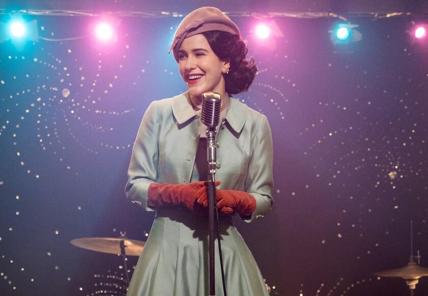 "Emmy winner Rachel Brosnahan returns in new episodes of the Amazon series ""The Marvelous Mrs. Maisel."""