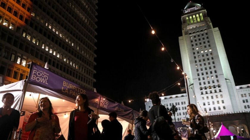 Los Angeles Times Food Bowl Night Market at Grand Park in Los Angeles, Calif., on May 16, 2018.
