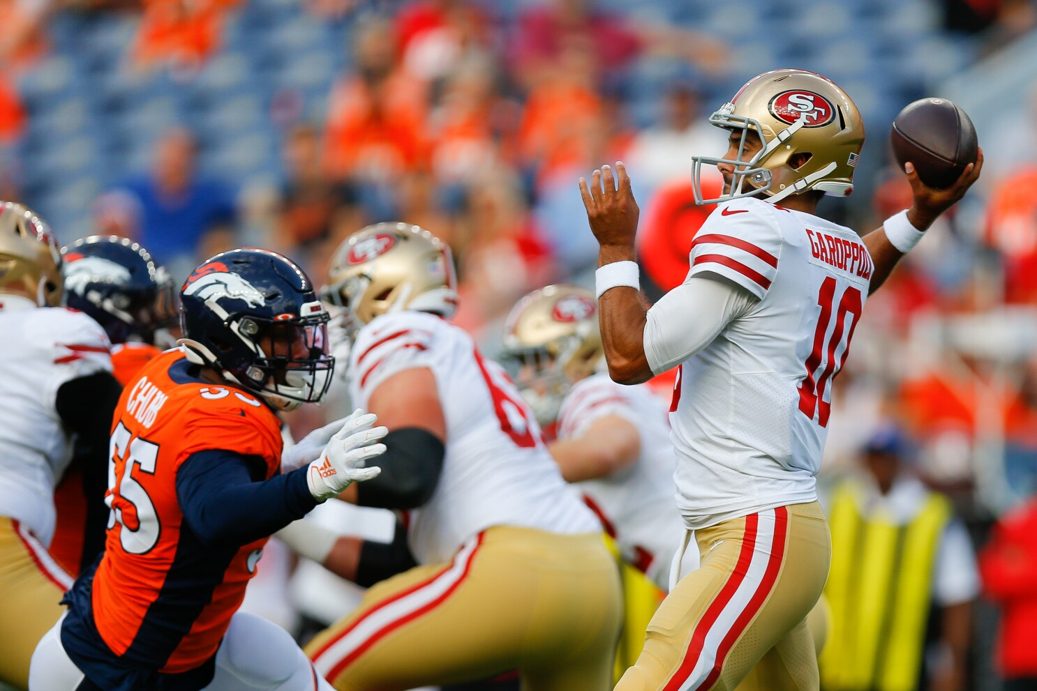 Jimmy Garoppolo has 0.0 passer rating in return from ACL injury