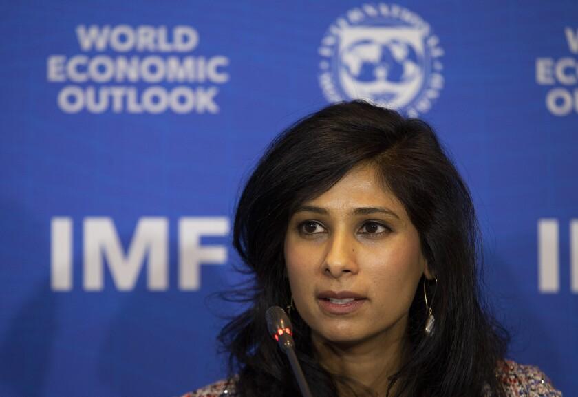 International Monetary Fund Chief Economist Gita Gopinath in 2019.