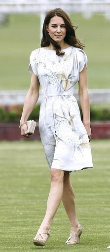 Kate, the Duchess of Cambridge, arrives at a charity polo match at the Santa Barbara Polo & Racquet Club.
