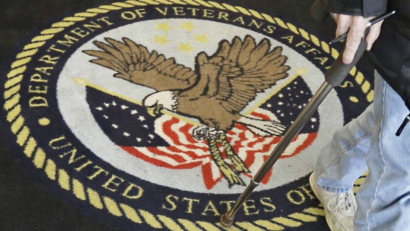A visitor leaves a Veterans Affairs medical center near Sacramento. It is unclear whether the national waiting-list scandal will lead to any indictments in California.