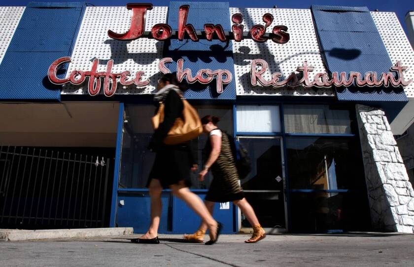 Preservationists describe Johnie's as one of the best remaining examples of Googie architecture, a style popularized in Southern California coffee shops and diners from the 1940s through the early 1960s.