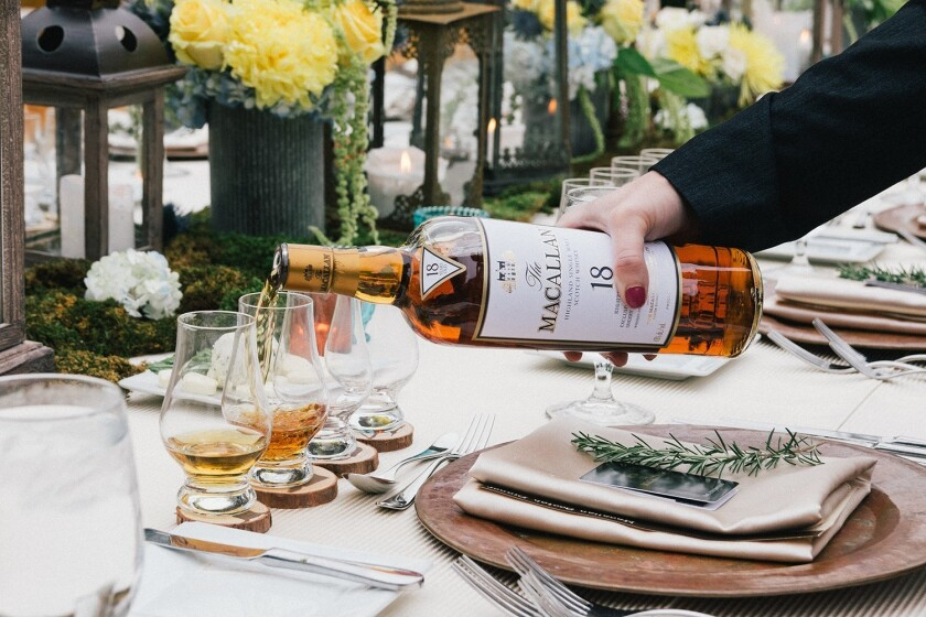 Estancia La Jolla Hotel & Spa kicks off its 2018 By the Barrel series with a dinner pairing accompanied by Macallan whiskies and barrel-aged beers from Balast Point.