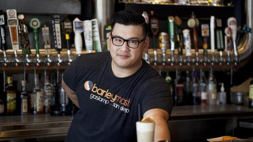 Lead bartender of barleymash, Chris Cheng, creates a Star Wars-themed cocktail, Java the hutt (Jarnard Sutton)