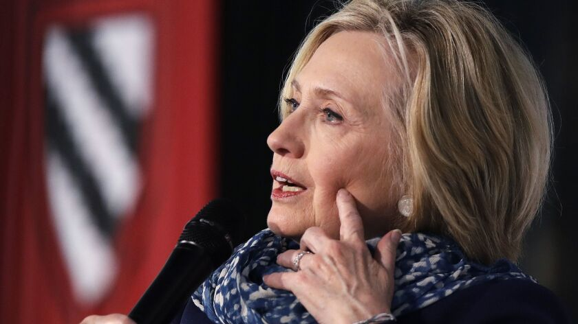 """Most people in our country get their news, true or not, from Facebook,"" Hillary Clinton told an audience at Harvard."