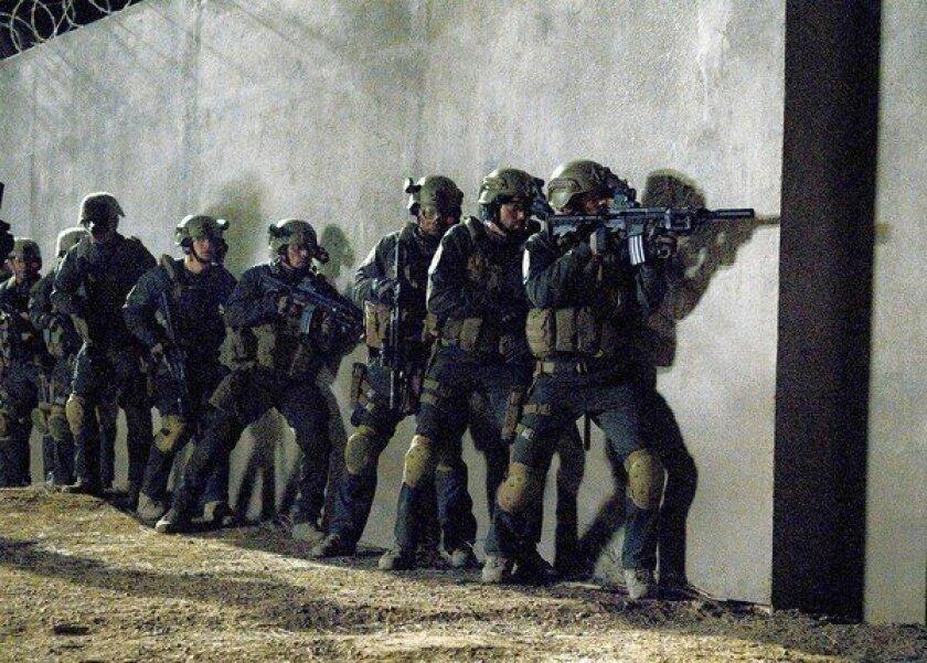 "A scene from the docu-drama ""SEAL Team Six: The Raid on Osama bin Laden."""