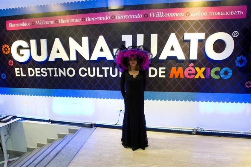 Establecimiento del estado mexicano de Guanajuato en la calle Velázquez de Madrid, en el marco de la Feria Internacional de Turismo (Fitur) 2018. EFE