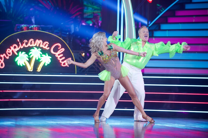 Sean Spicer joins 'Dancing With the Stars' in a neon blouse — and the internet responds