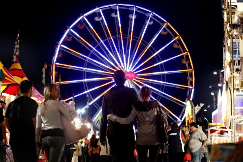 The Ferris wheel at the San Diego County Fair.