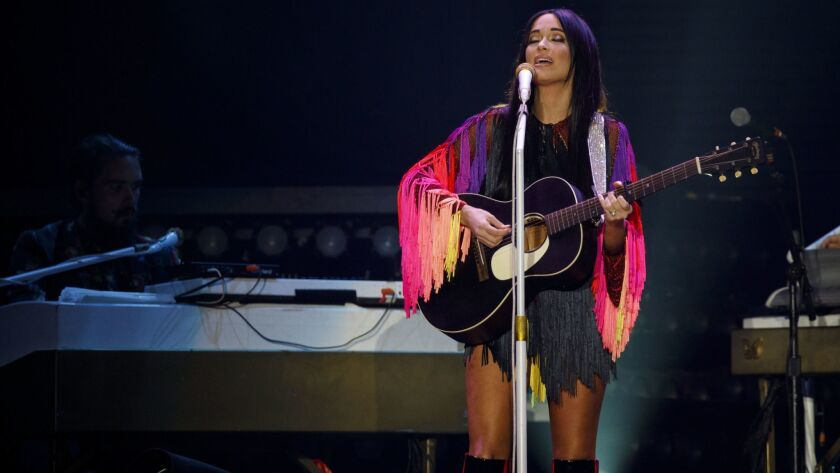 Kacey Musgraves performs live during the final night of Harry Styles Live On Tour at The Forum of Sa