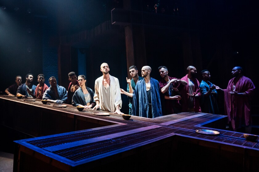 "The company of the North American Tour of ""Jesus Christ Superstar."""