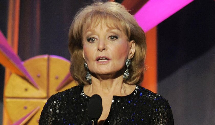 """Barbara Walters returns to """"The View"""" after six weeks off for various ailments."""