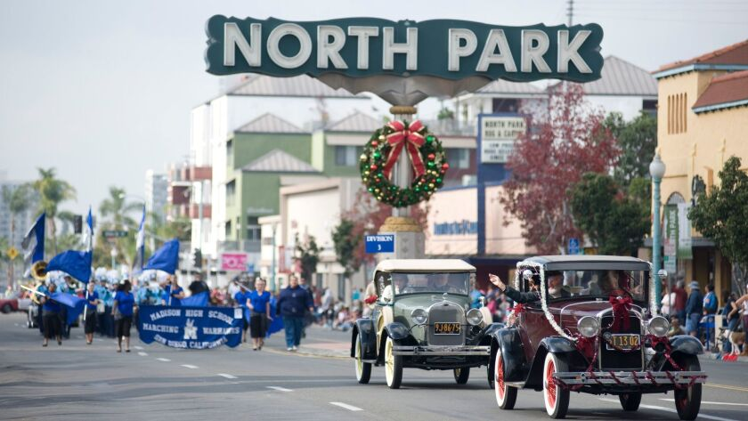 Marching bands, antique cars and community groups roll through North Park during the annual Toyland Parade & Festival.