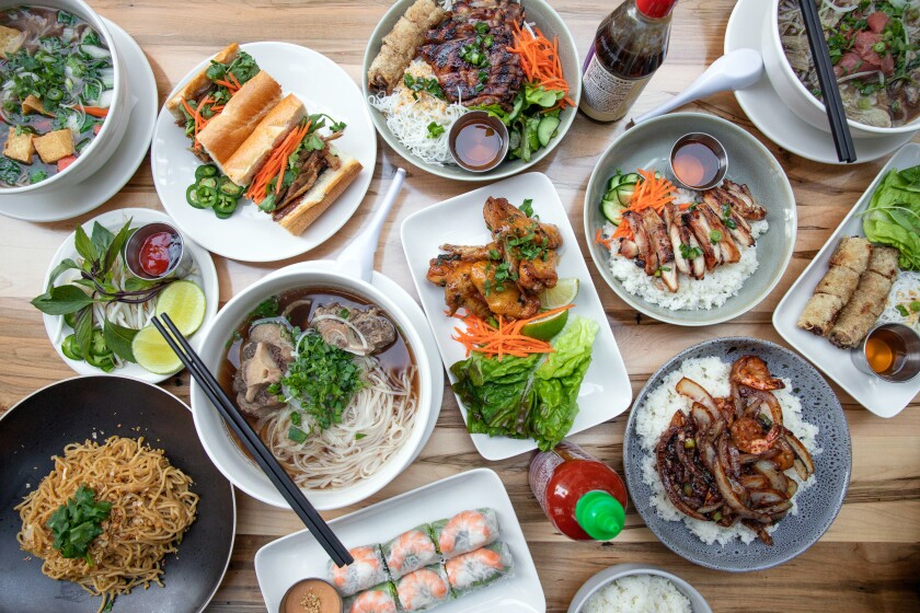 Assorted dishes at the new Phorage in West Hollywood.