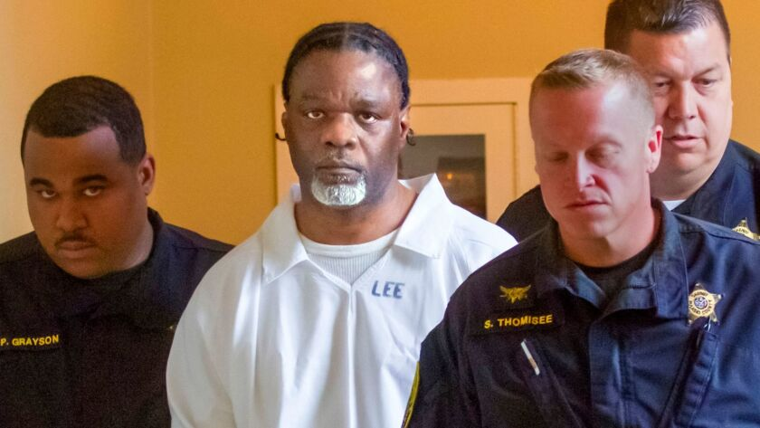 Ledell Lee appears in Pulaski County Circuit Court on April 18.