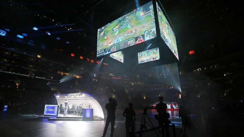 """The """"League of Legends"""" World Championship at Staples Center in Los Angeles last October brought together the top two teams from across Riot Games' various regional leagues."""